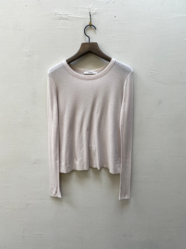 Pharaoh James Feather Weight Long Sleeve  Rib Tee - Clay