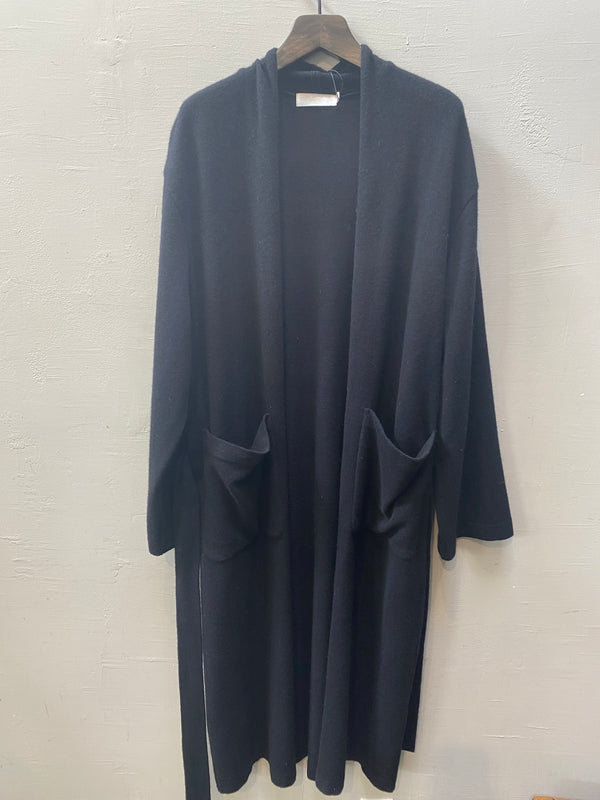 Moussy Long Knit Wool Gown - Black
