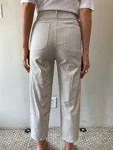 Pharaoh Crop Erin Pant - Cement Stretch Twill