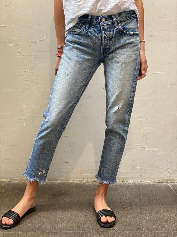 Moussy Mv Keller Tapered Jean - Light Blue
