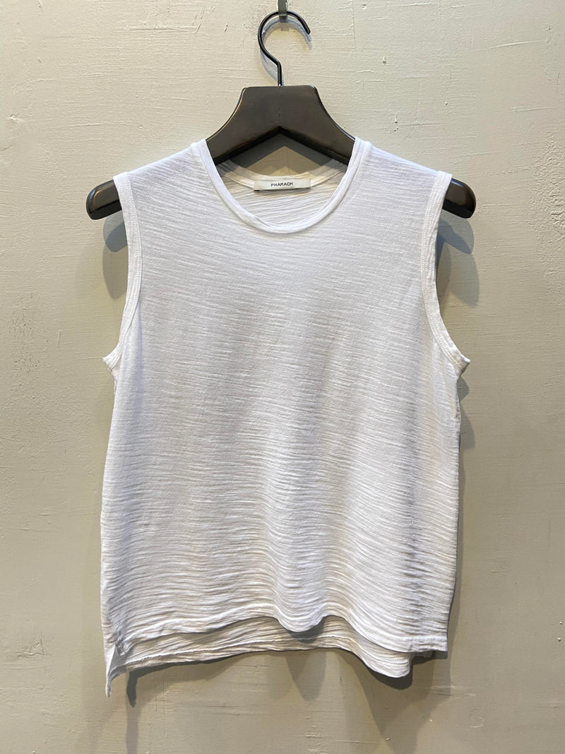 Pharaoh Ava Crop Tank - White
