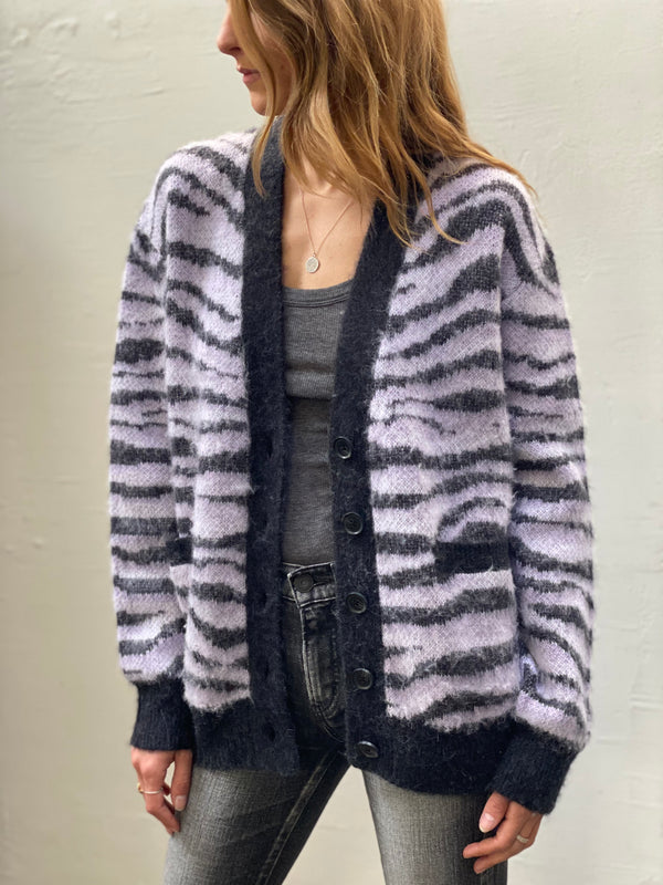RE/DONE 90s Oversized Cardigan - Lilac Tiger