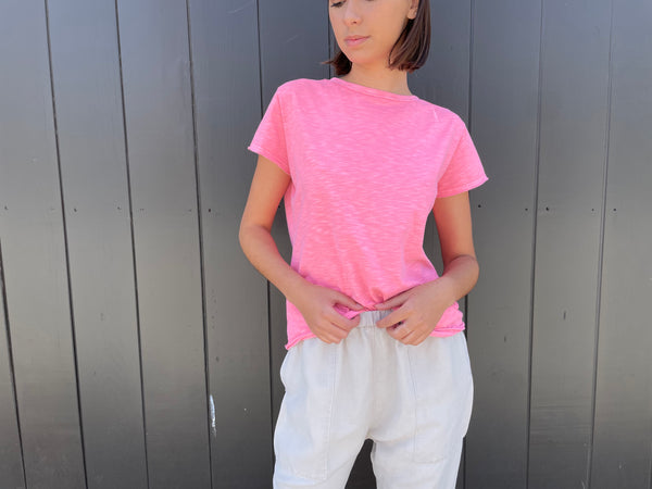 Pharaoh Kerri Boxy Crop Tee - Very Pink
