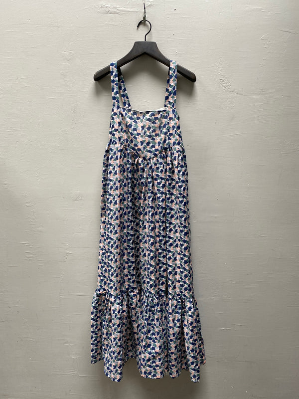 Mirth Newport Dress - Blue Mosaic Print