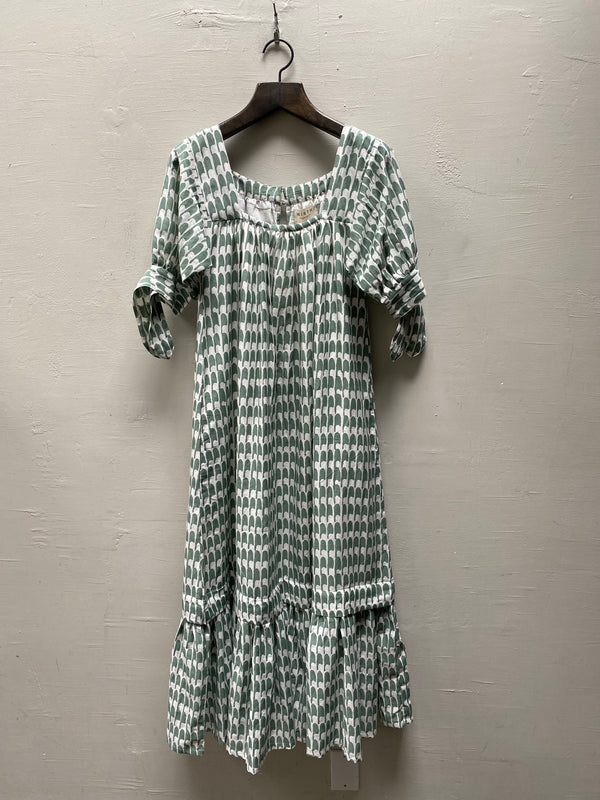 Mirth Pueblo Dress - Celery Scale