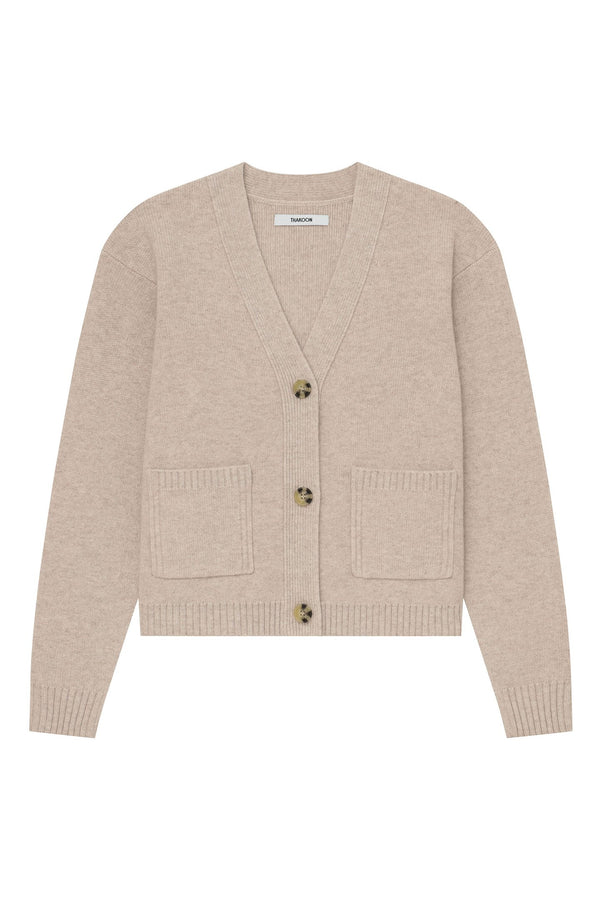 Thakoon Cropped Wool Cardigan - Oatmeal