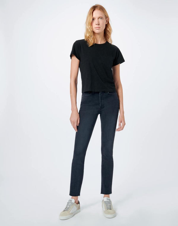 RE/DONE 90'S HIGH RISE ANKLE CROP - BLACK