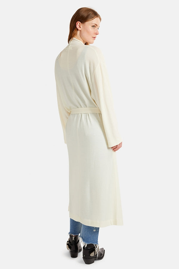 Moussy Long Knit Wool Gown - Ivory