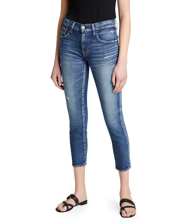 Moussy MV Prichard Cropped Skinny Jean - Blu