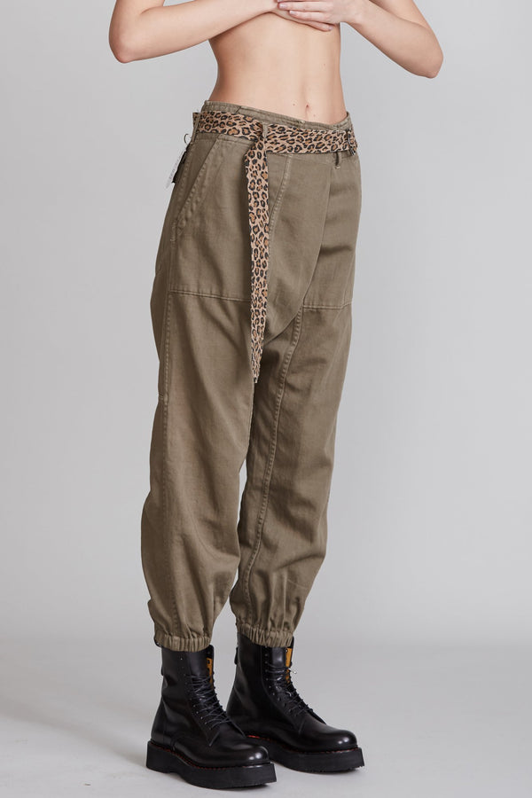R13 CROSSOVER UTILITY PANT - Olive
