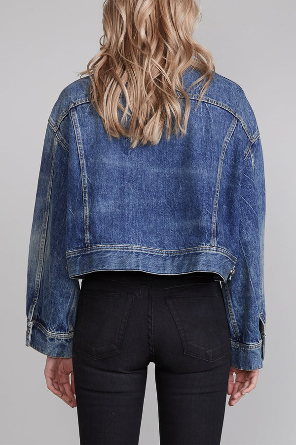 R13 Mia Trucker Jacket - Kelly