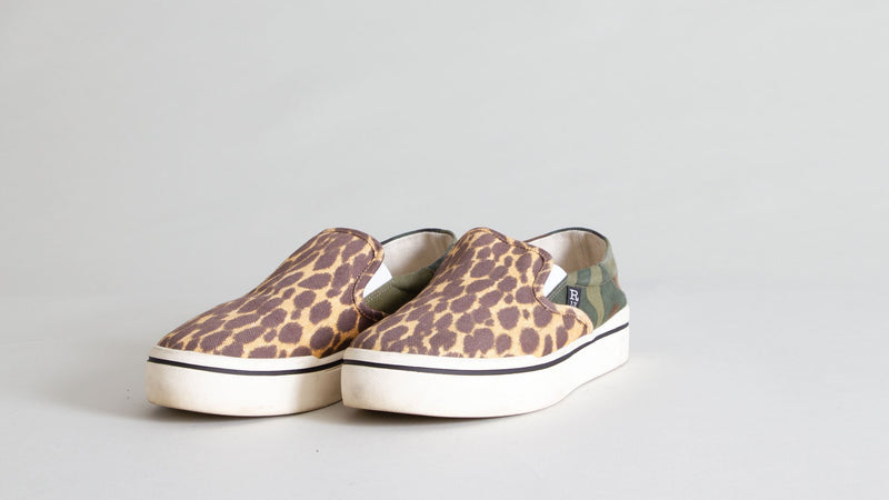 R13 Slip-on Sneaker in Camo and Cheetah