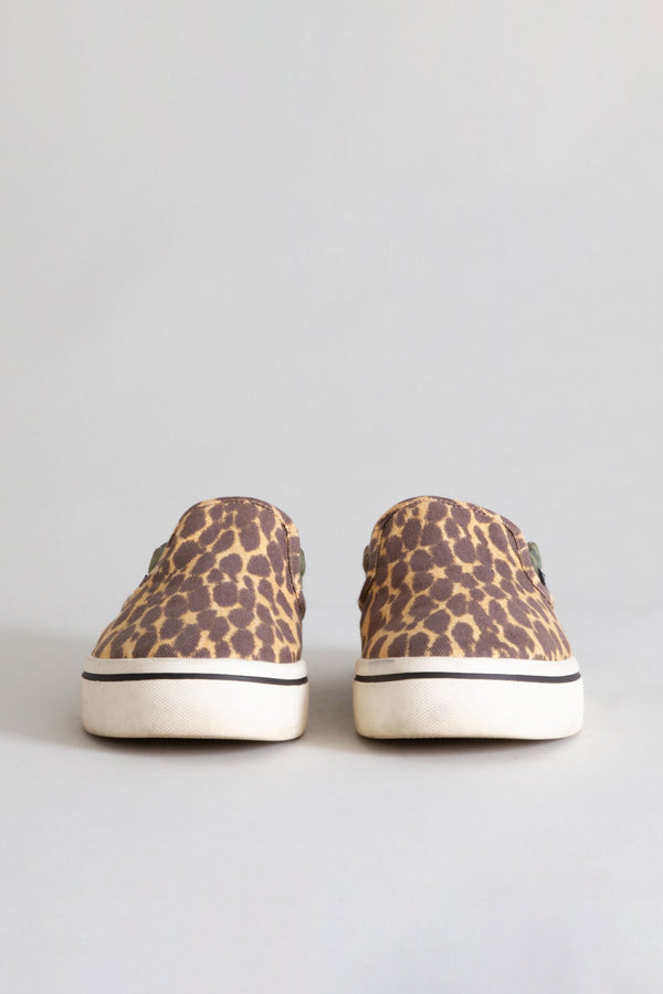 Slip-on Sneaker in Camo and Cheetah