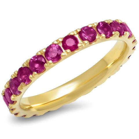 ERINESS LARGE RUBY ETERNITY BAND