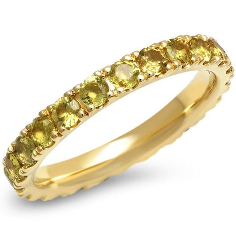 Eriness Large Yellow Sapphire Eternity Band