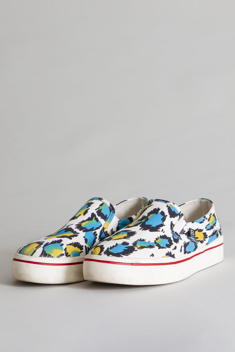 Slip-on Sneaker in Multicolored Leopard