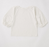 Moussy Form Puff Sleeve Tee - White
