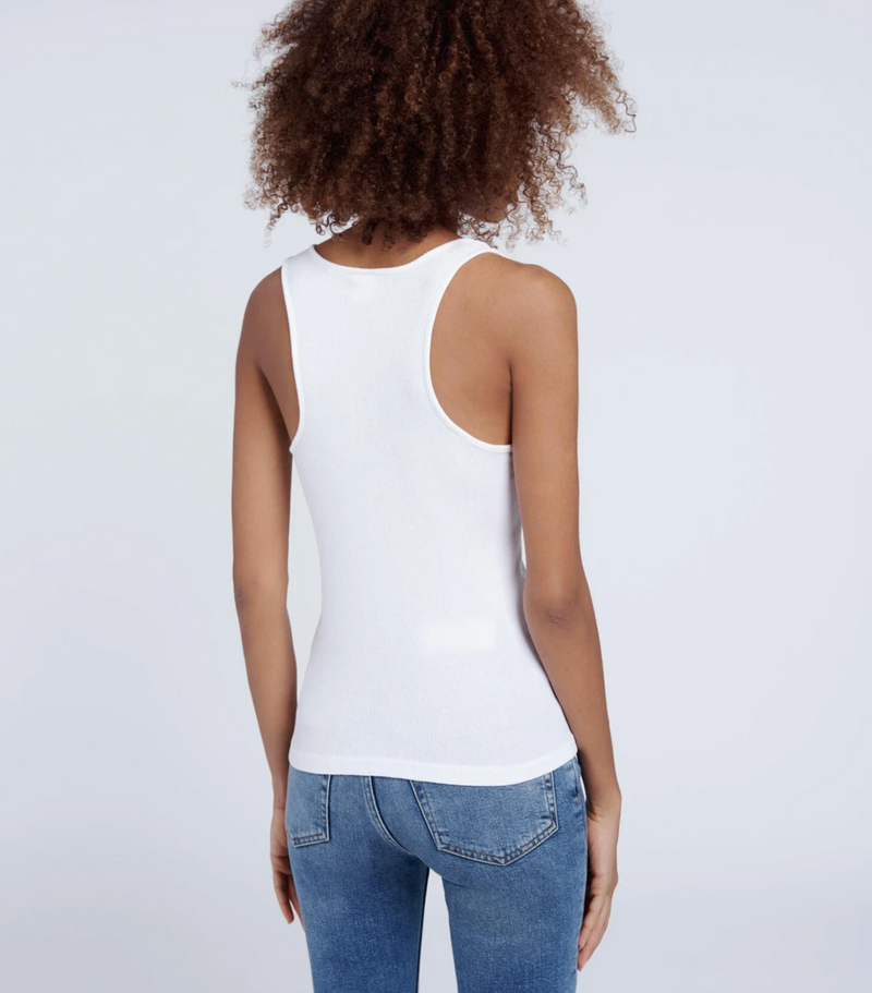 RE/DONE 90s Ribbed Tank - Optic White