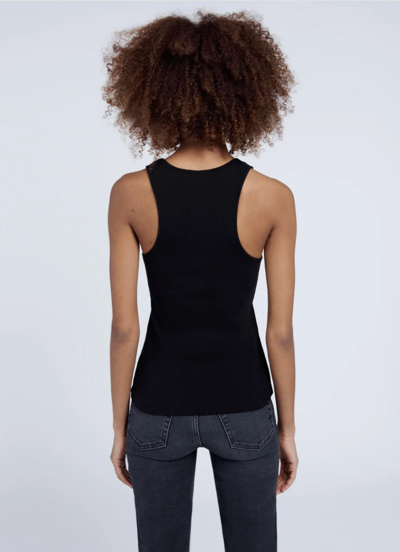 RE/DONE 90s Ribbed Tank - Black