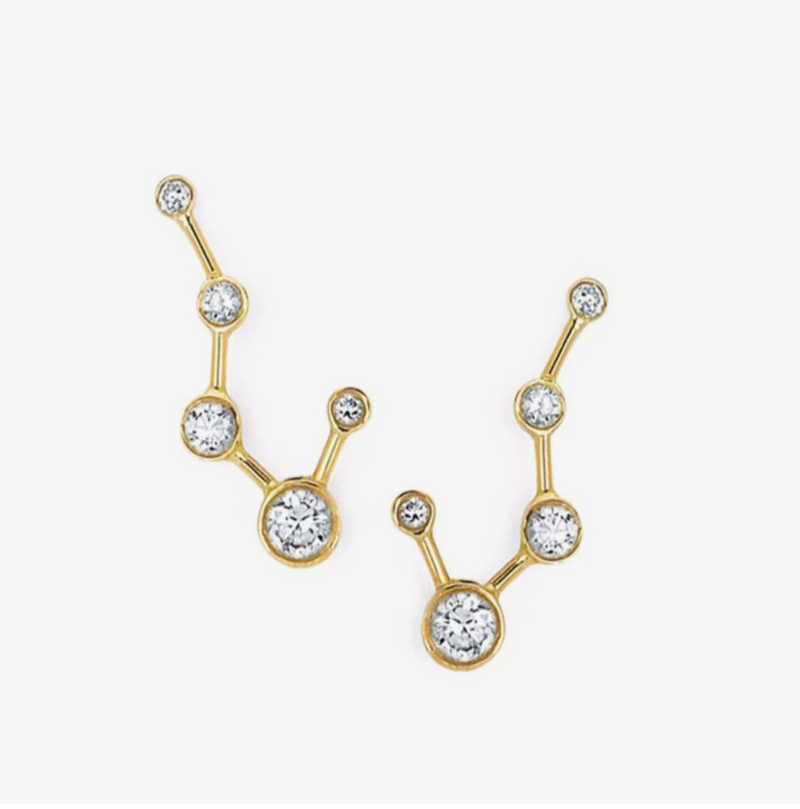 Logan Hollowell Diamond Big Dipper Earrings