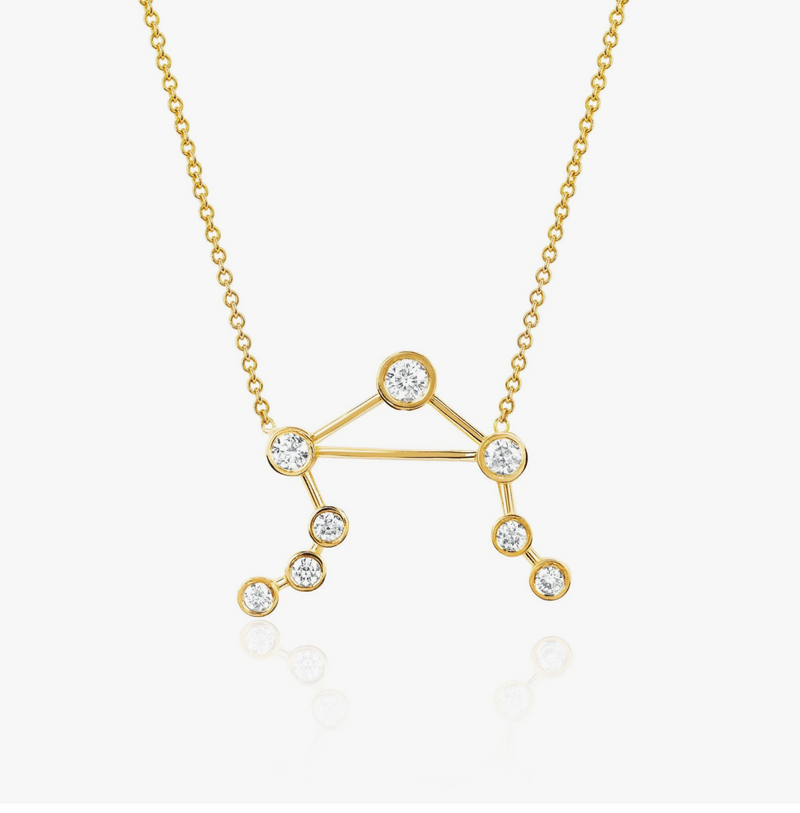 Logan Hollowell Libra Diamond Constellation Necklace
