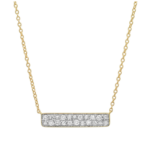 Eriness Yellow Gold Diamond Staple Necklace