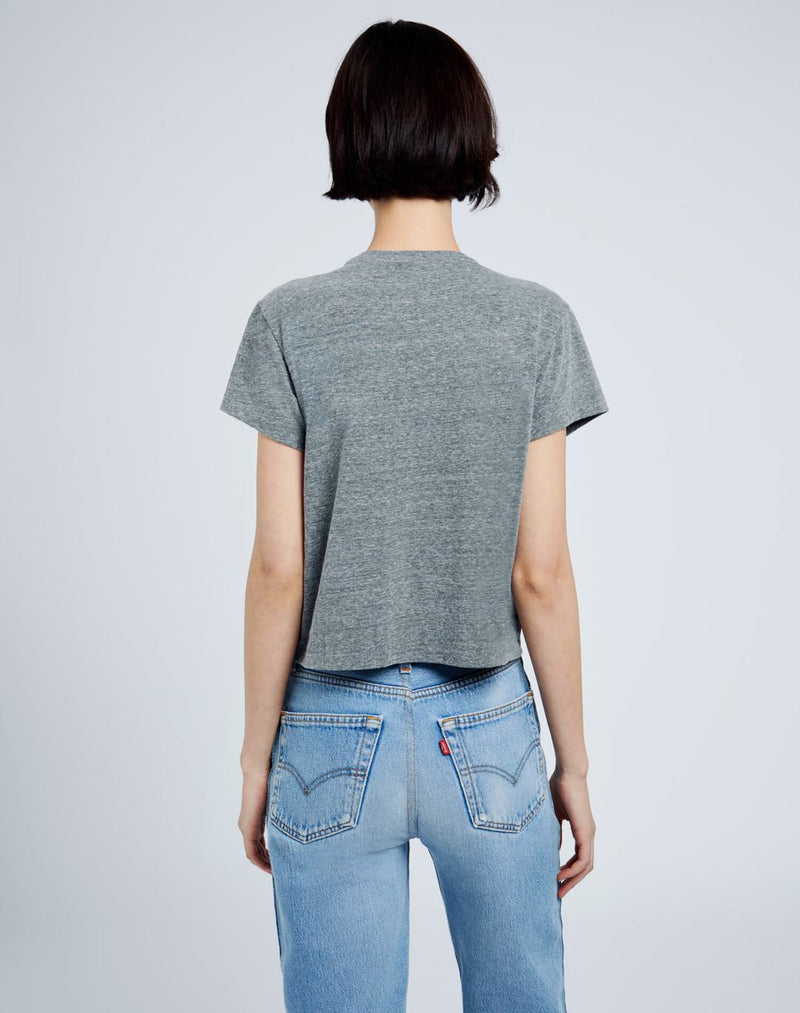 Re/Done 50's Boxy Tee - Heather Grey