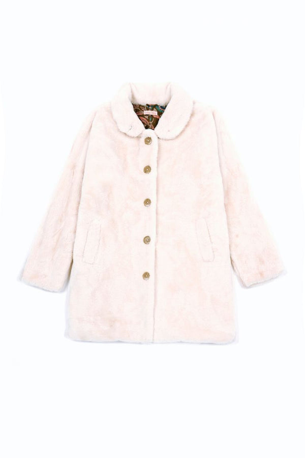 LOUISE MISHA FAUX FUR COAT GAIA - CREAM