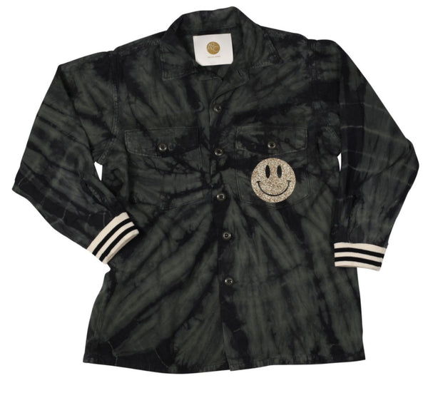 AQC - HOT LIPS ARMY JACKET SPIRAL DYE