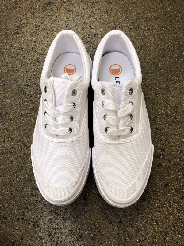 GOOD NEWS CANVAS SNEAKER - WHITE