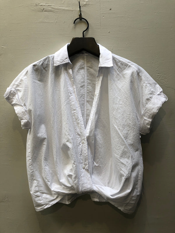 Stateside Poplin Twist Front Shirt - White