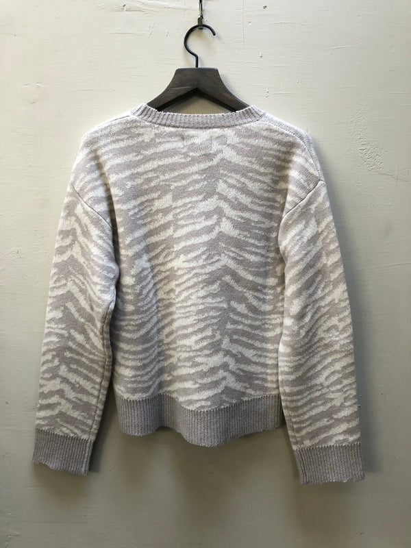 RTA EMMA GREY ZEBRA SWEATER
