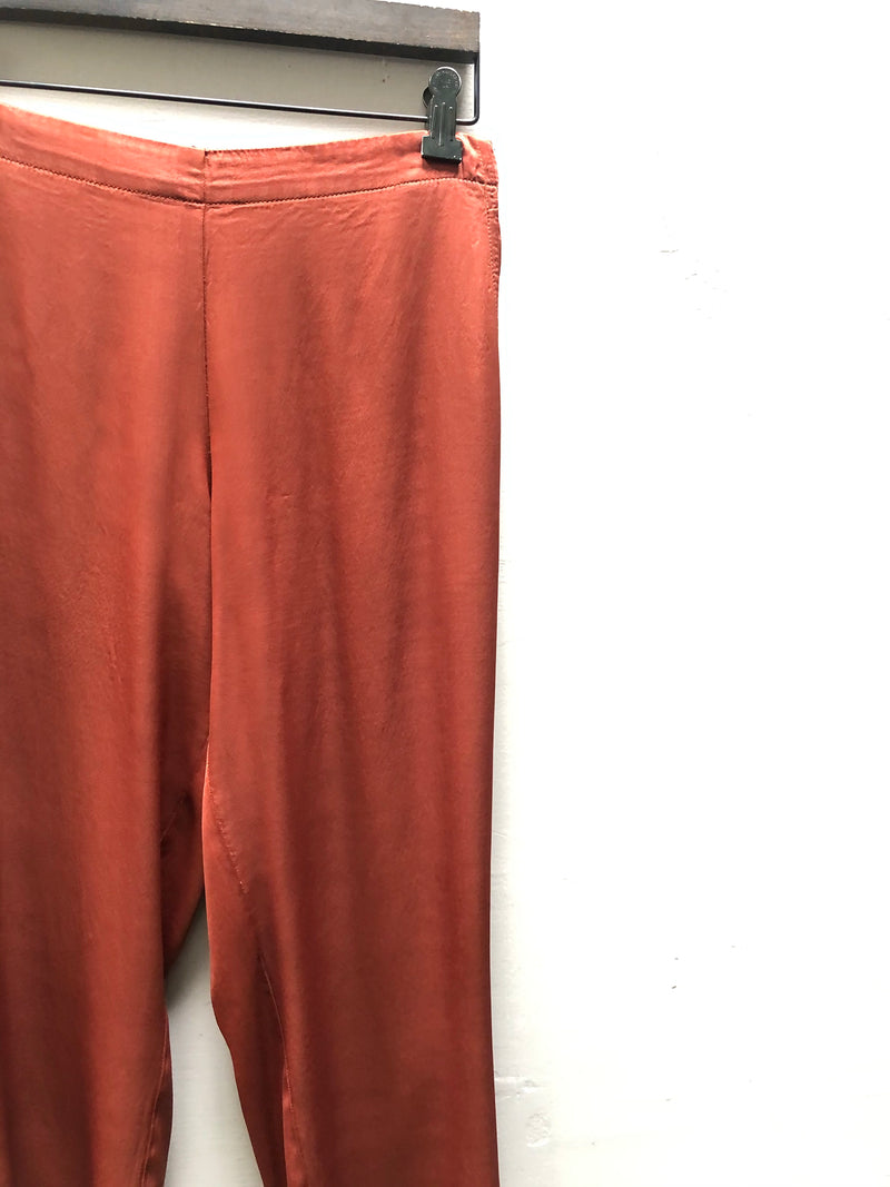 Parker Pull On Pant in Vintage Satin - Sienna