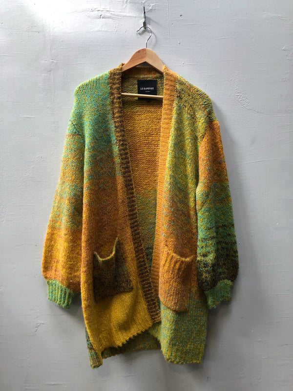 Le Superbe Space Dye Ombre Cardigan