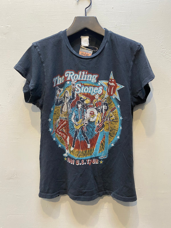 MadeWorn Rolling Stones tattoo you tour 1981 T-Shirt - Coal