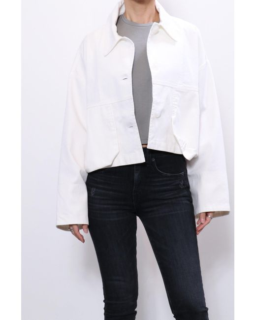 JOHN ELLIOT CROPPED FIELD COAT WHITE
