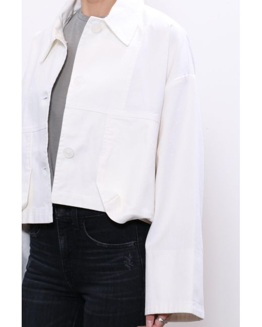 John Elliot Cropped Field Coat - White