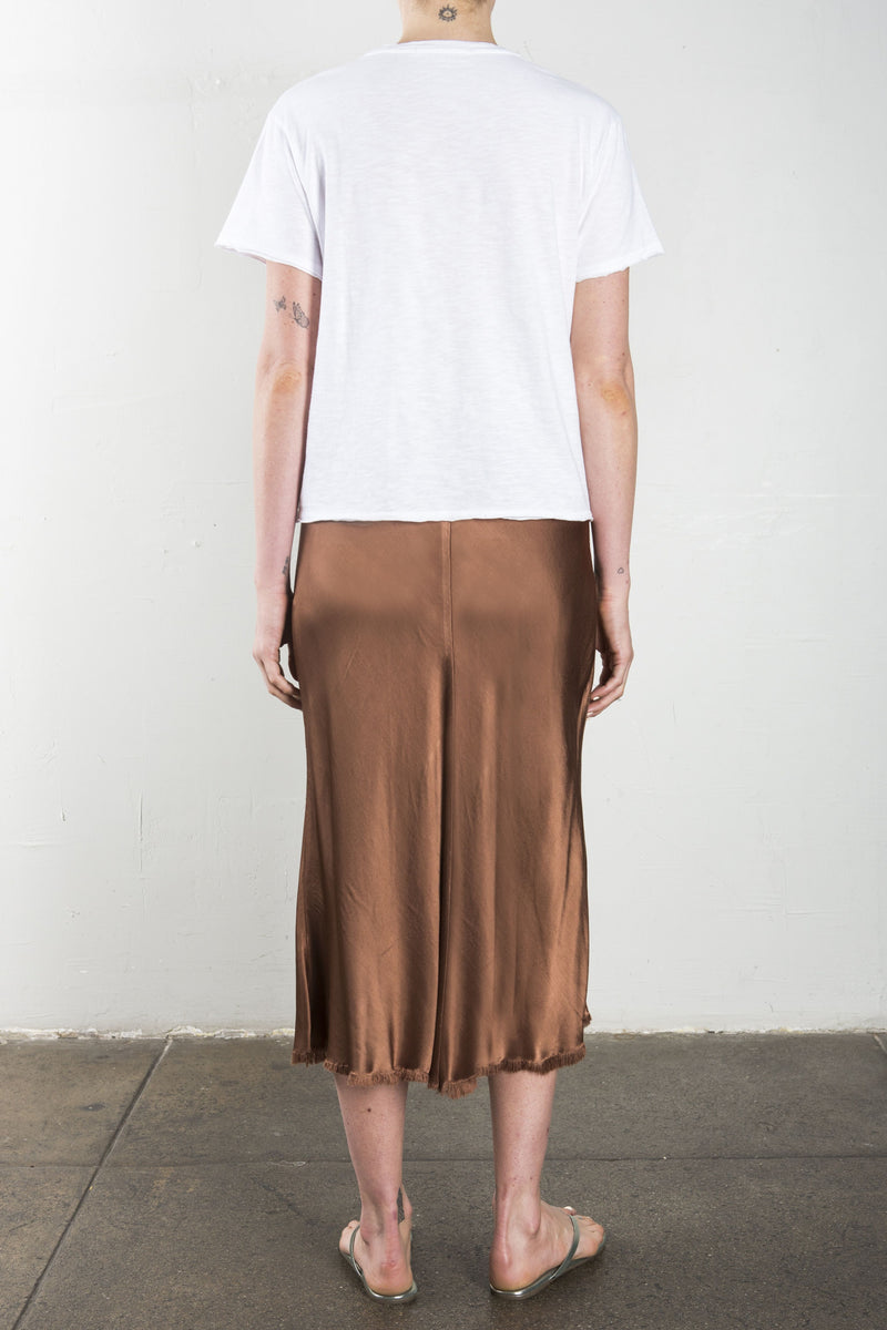 Riley Vintage Satin Skirt - Earth