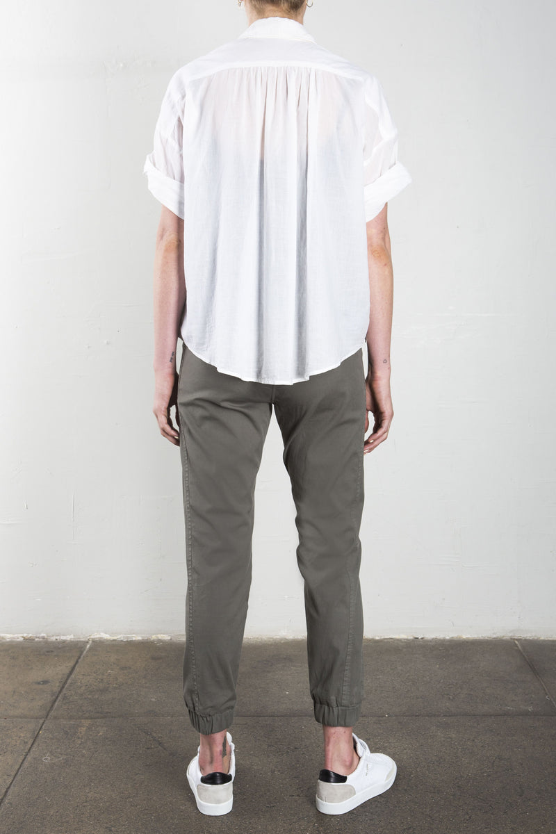 Pharaoh Danny Twisted Sleeve Shirt in Japanese Cotton - White