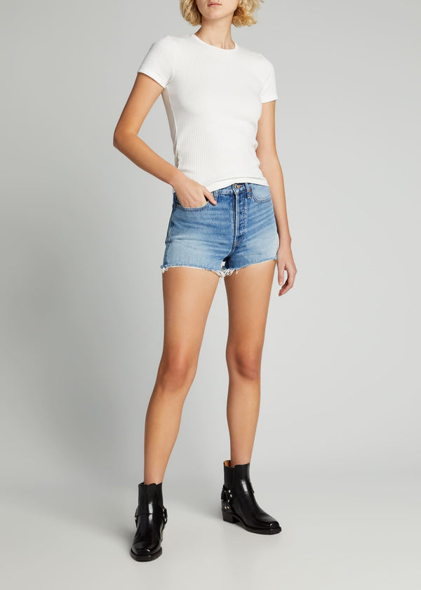 Re/Done 70's High Rise Short - Light Vintage Denim