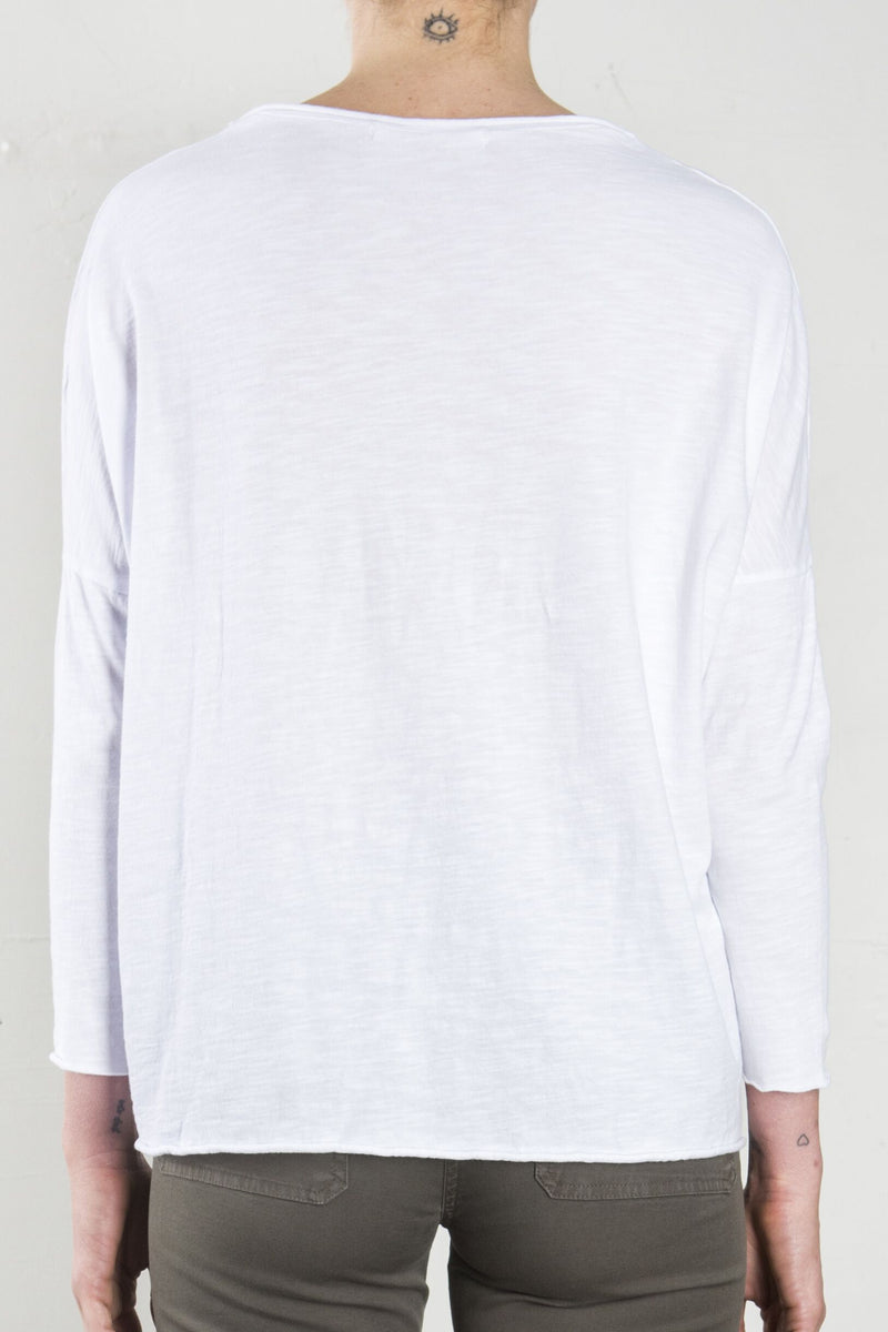 DJ Long Sleeved Tee - White