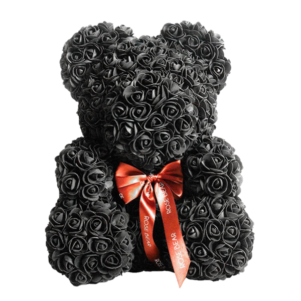 DIY Black Rose Teddy Bear
