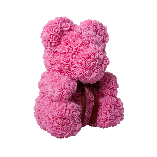 DIY Pink Rose Teddy Bear