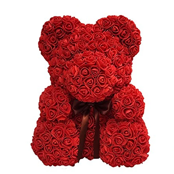 Flower Teddy Bear with Free Gift Box --