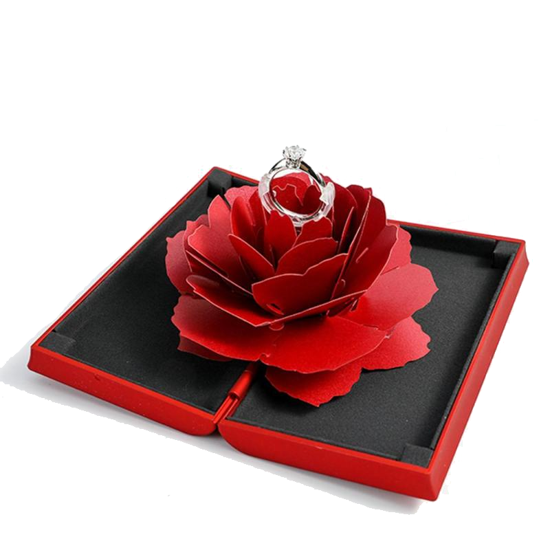 Pop-up Rose Ring Box
