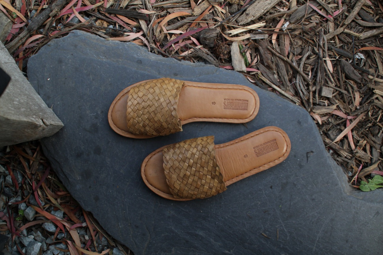 Woven Sandal / Natural Leather