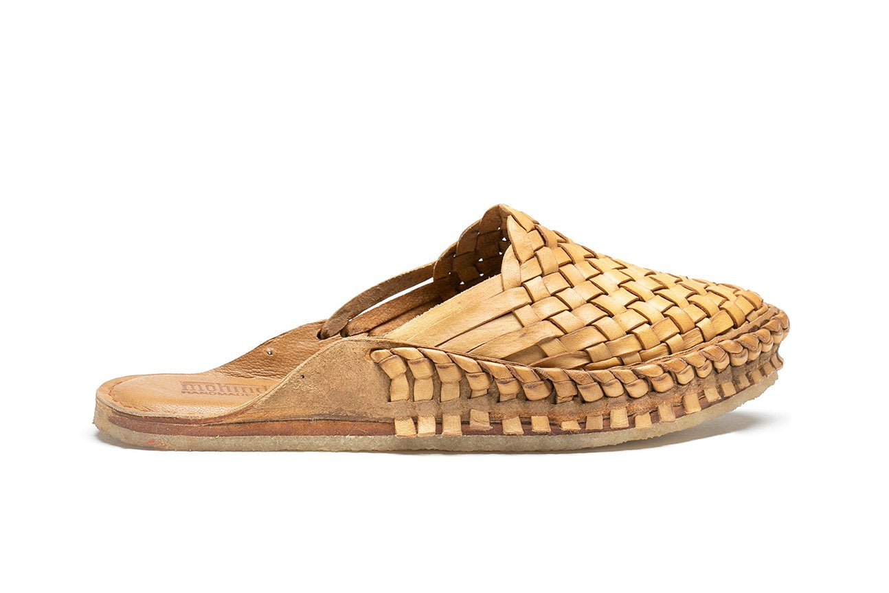 Woven Slide / Natural Leather