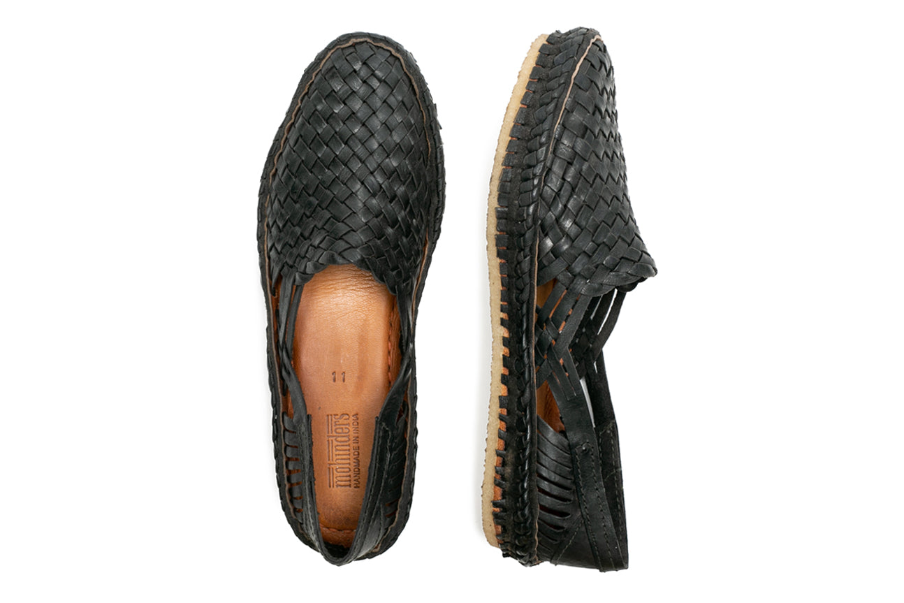 Woven Shoe / Iron-dyed Leather