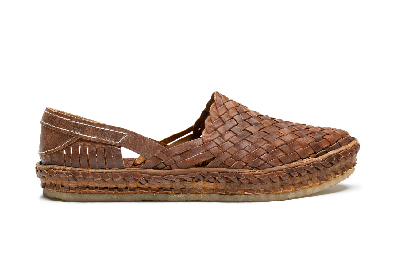 Woven Shoe / Oiled Leather