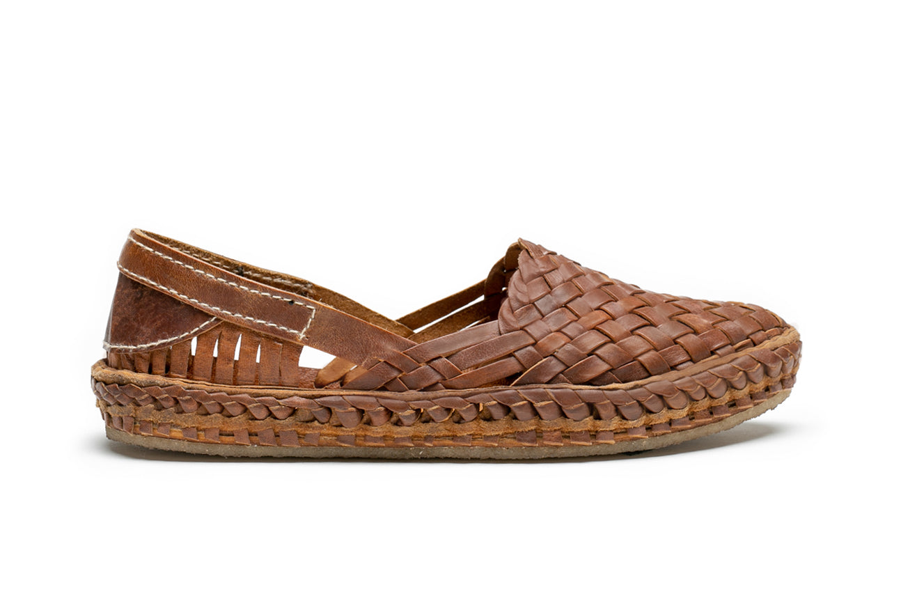 Woven Flat / Oiled Leather
